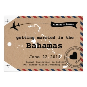 Luggage Tag Save The Dates Designkandy - Luggage tag save the date template