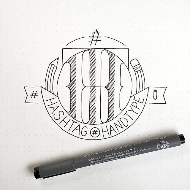 Hashtag Handtype