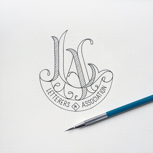 Los Angeles Letterers Association's Logo Application of Lettered Alliteration