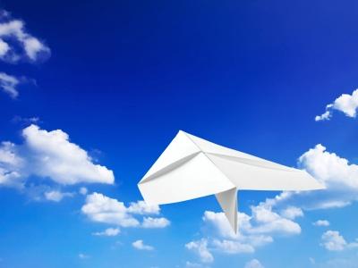 Blue Sky Paper Airplane.jpg