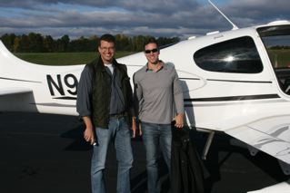John Hart (left), NYT Bestselling author of The Last Child and Iron House, and me after our flight over Charlottesville, VA.