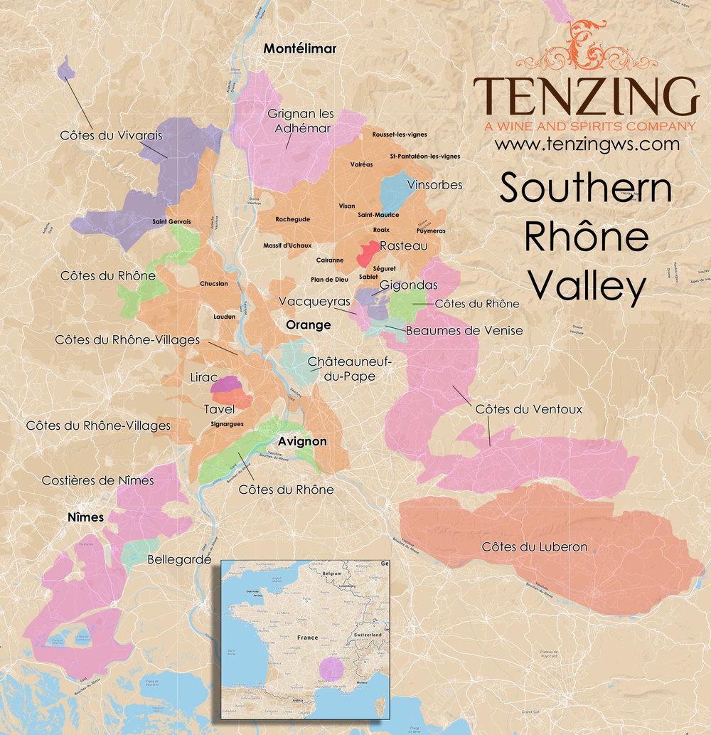 Southern Rhone Map