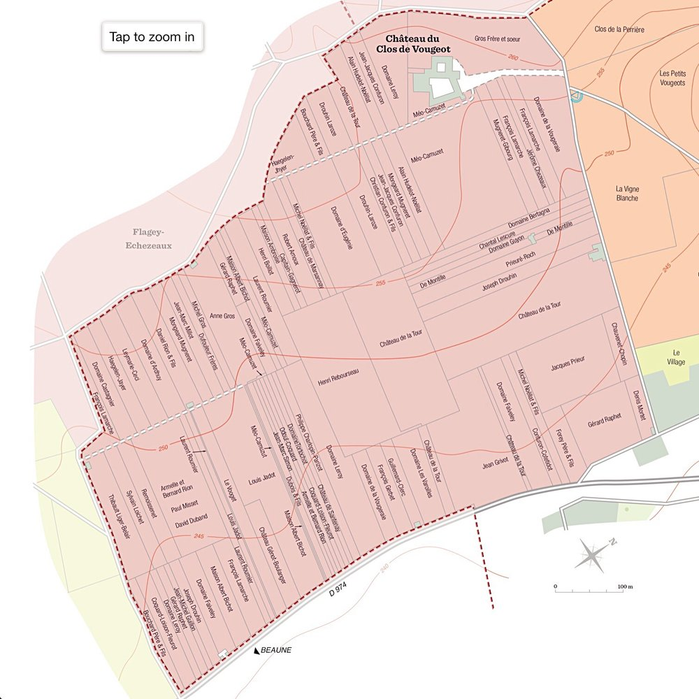 Maps Of Clos De Vougeot By Parcels And Owners Fernando