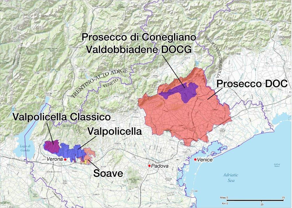 Interactive map of 200 Crus of Valpolicella and Valleys Fernando
