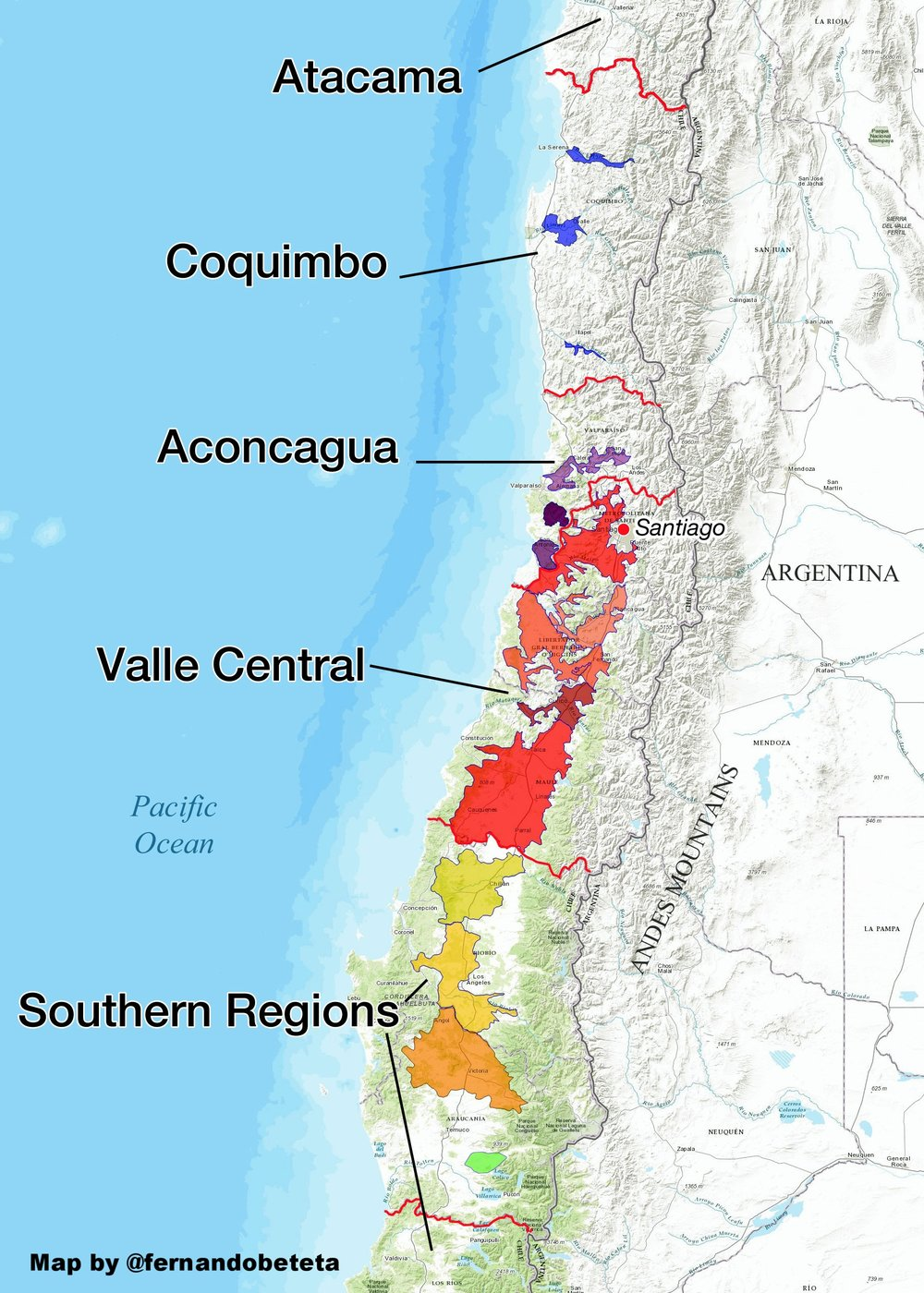 Chile - Wine Regions