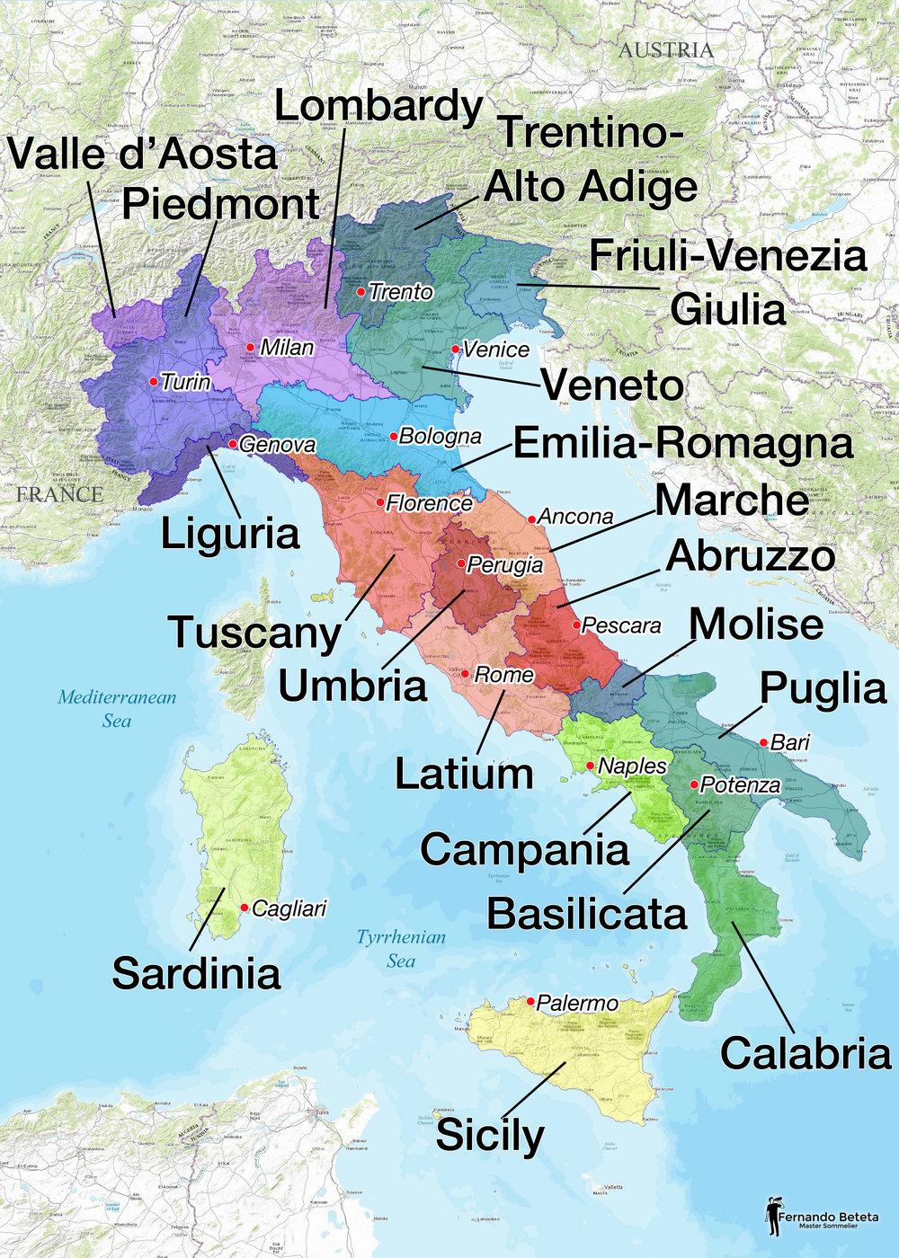 Italy -Regions