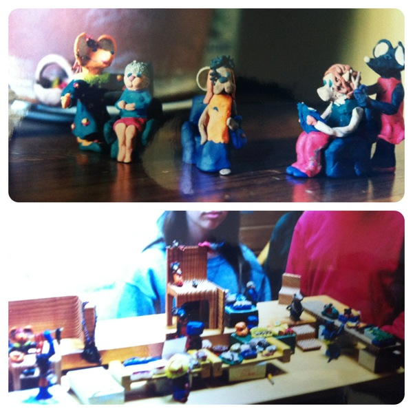 My cousins and I once spent days making this entire village of incredibly detailed plasticine animals.