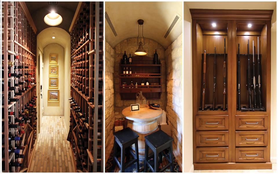 Wine Cellar and Gun Vault Trim