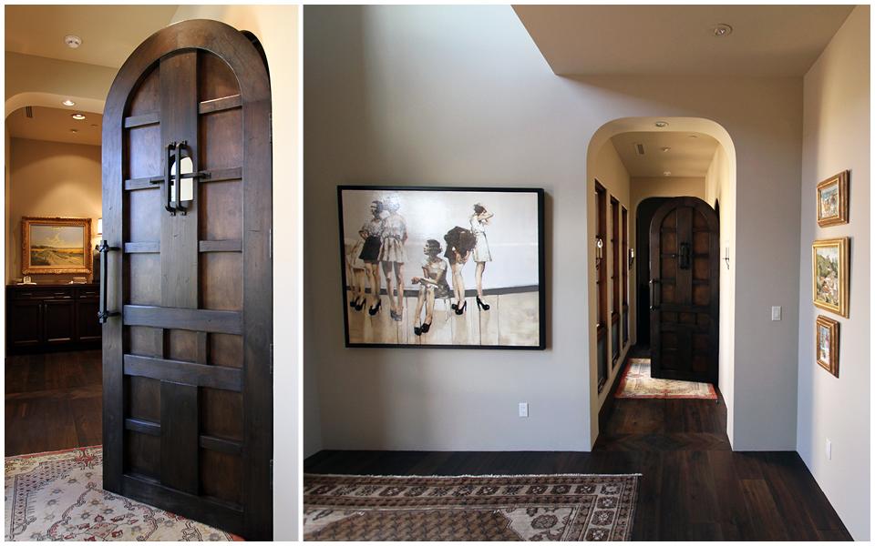 Wood and Iron Wine Cellar Door