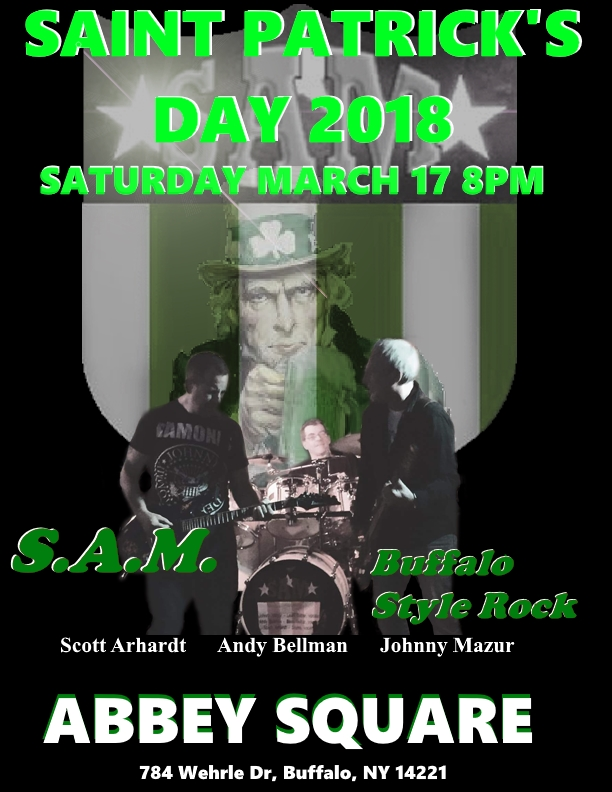 SAM LOGO with band St Patty poster 2018.jpg