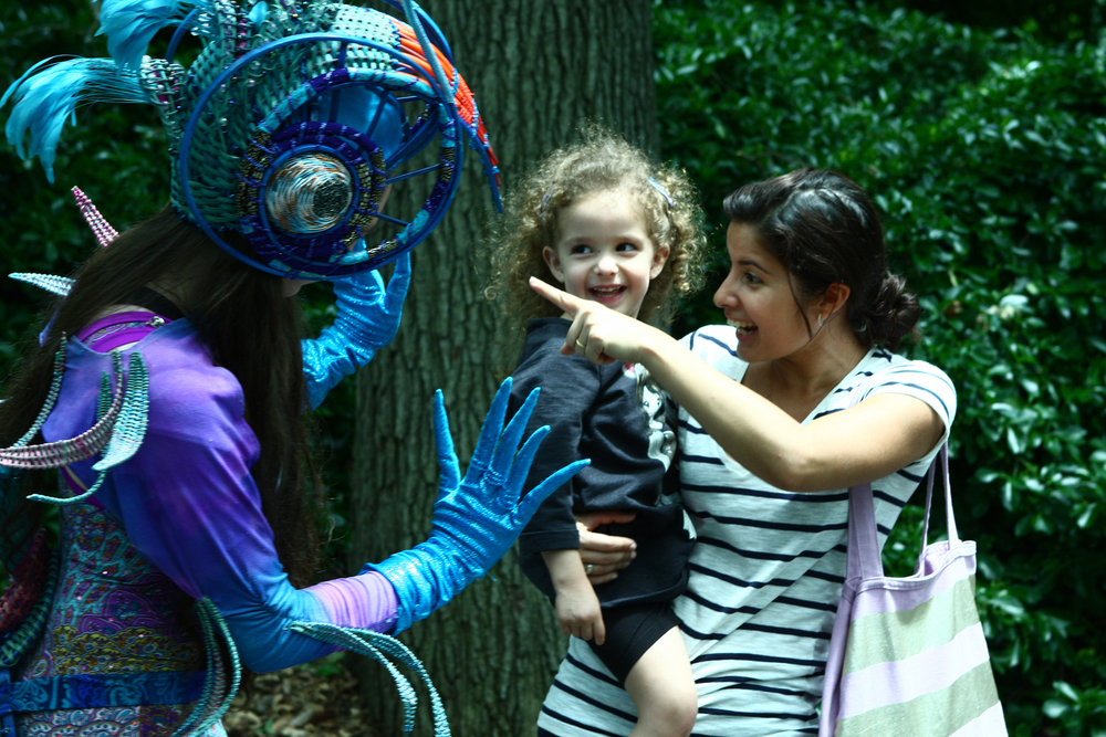 The Bronx Zoo Wildlife Conservatoire, Bronx NY. Costume design and construction by Annie Hickman. Photo by Allynn Gooen