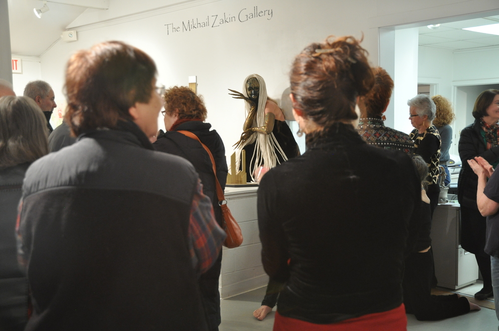 """Off the Wall"" Art Gallery Event.  Lynn Needle pictured."