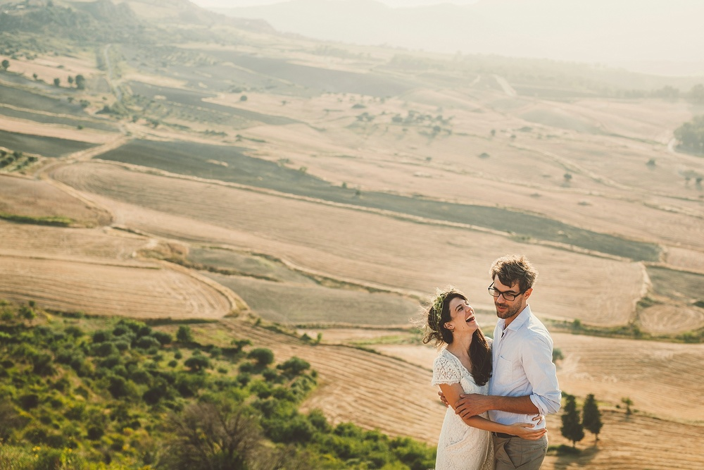Wedding Photography Carly Romeo Photography Richmond VA Aidone Sicily Italy Landscape Couple Sunset