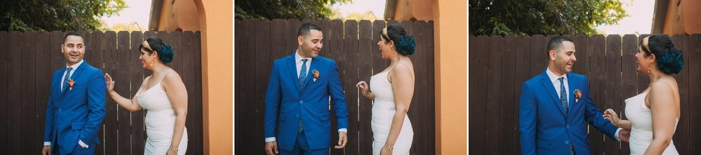 Feminist Wedding Photography Carly Romeo Photography Richmond VA Destination Altadena California First Look Bride Groom