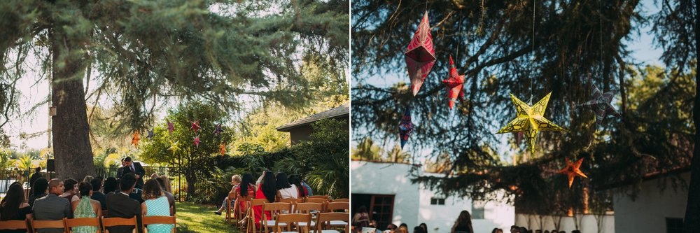 Feminist Wedding Photography Carly Romeo Photography Richmond VA Destination Altadena California Outdoor Ceremony Tree Decoration