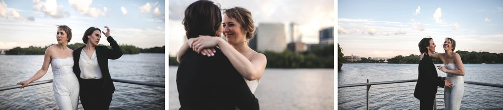 Feminist Wedding Photography Carly Romeo Photography Richmond VA Washington DC Queer Women LGBTQ Water Cityscape