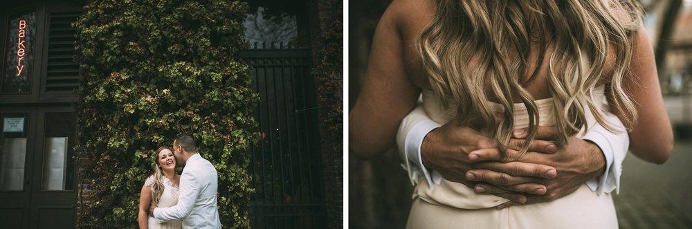 New Year's Eve Feminist Brazilian Wedding Photography Seattle Washington Carly Romeo Photography Richmond VA Bride Groom Hug Moss