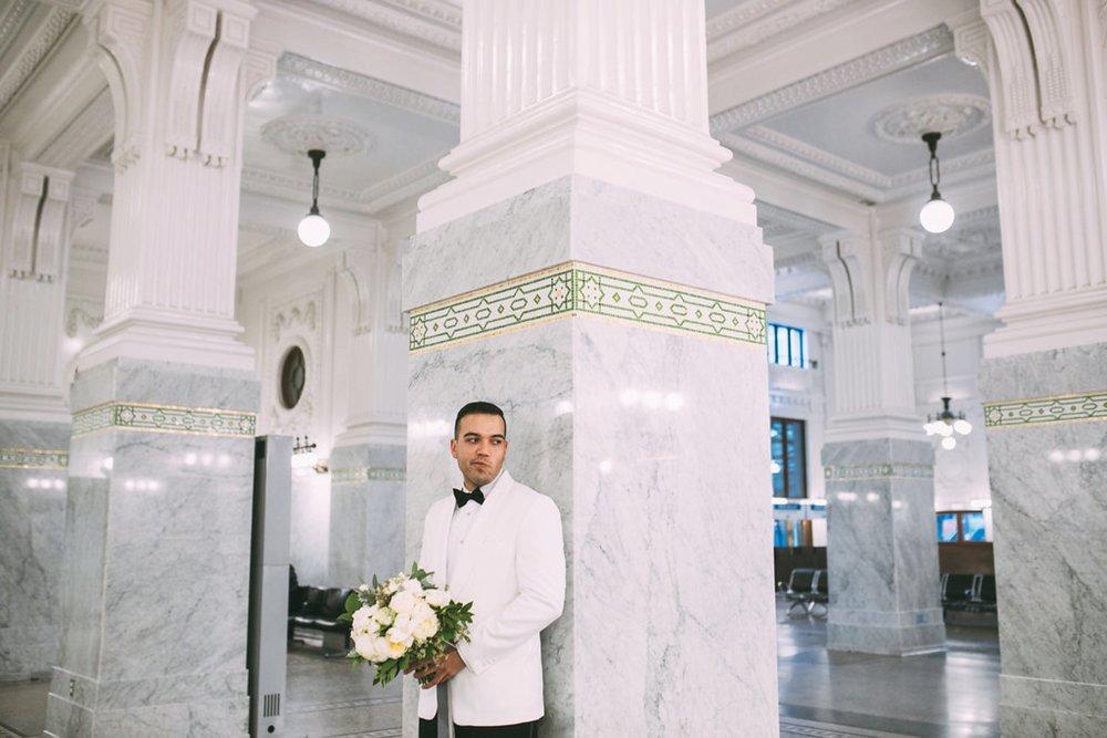 New Year's Eve Feminist Brazilian Wedding Photography Seattle Washington Carly Romeo Photography Richmond VA Marble Hall Couple