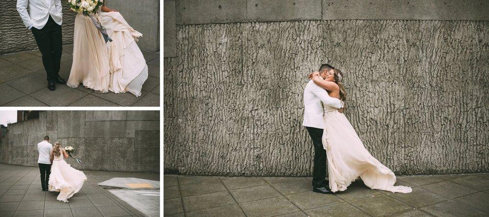 New Year's Eve Feminist Brazilian Wedding Photography Seattle Washington Carly Romeo Photography Richmond VA Concrete Wall Portrait
