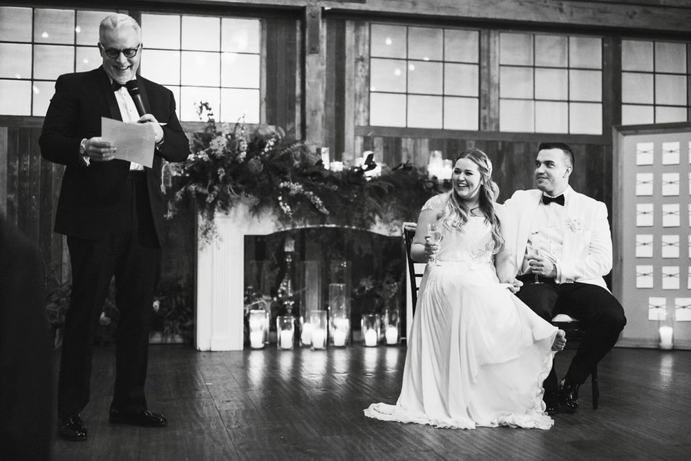 New Year's Eve Feminist Brazilian Wedding Photography Seattle Washington Carly Romeo Photography Richmond VA Father Laughing Smile Toasts