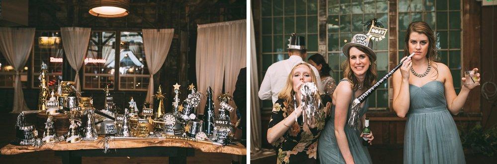 New Year's Eve Feminist Brazilian Wedding Photography Seattle Washington Carly Romeo Photography Richmond VA Midnight Glamour Gold