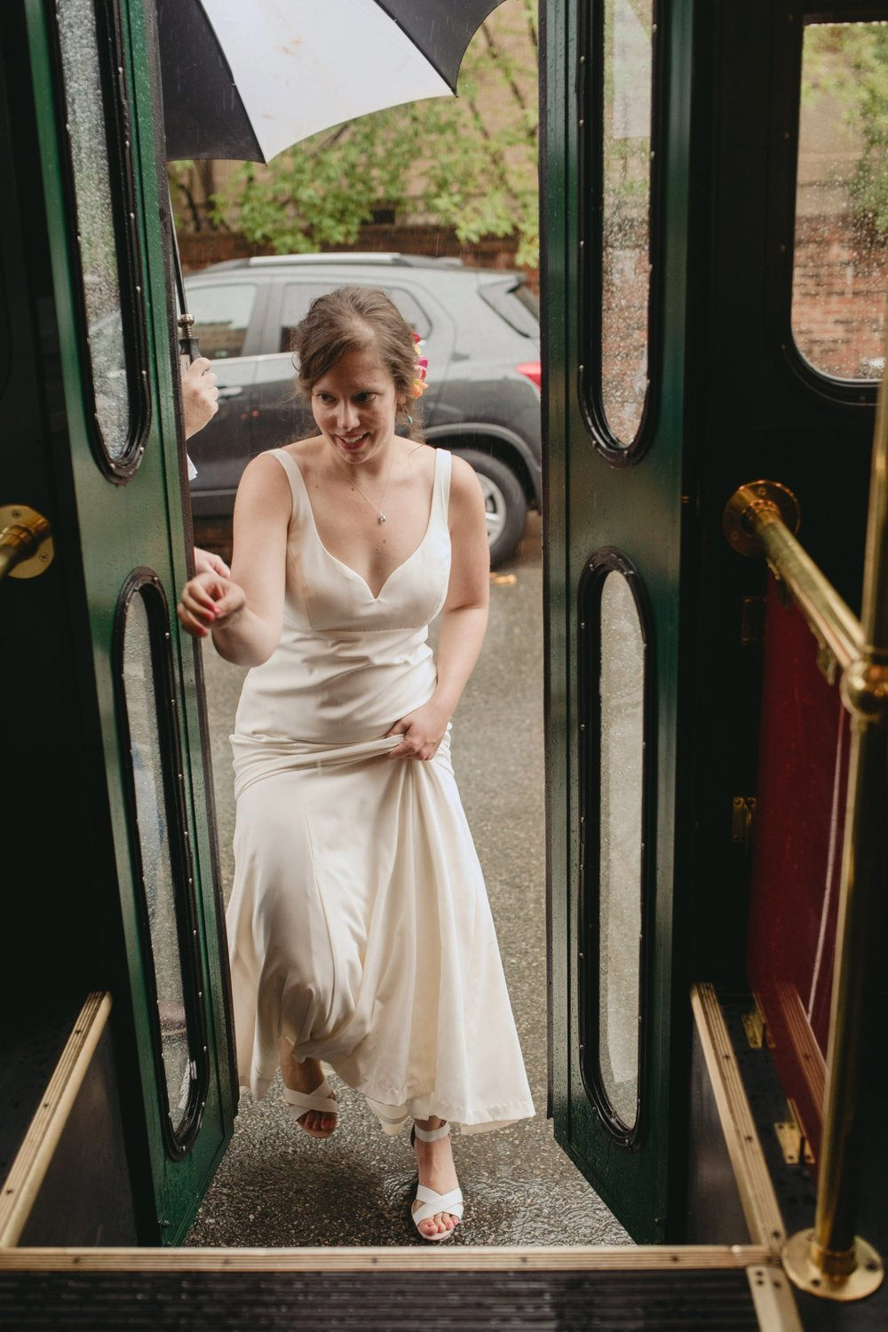 richmond virginia wedding havana 59. Boarding the trolley.