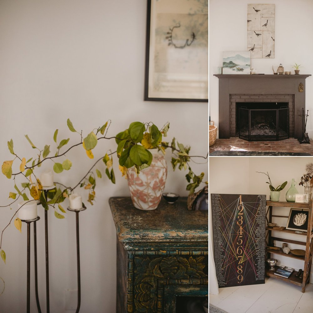 october foxfire mountain house wedding upstate new york. Interior details.