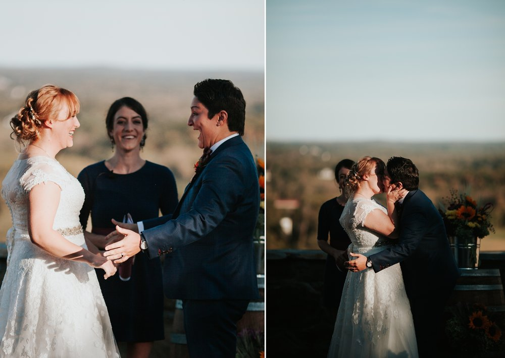 Bluemont Vineyard Wedding, Same-sex wedding, queer wedding in virginia