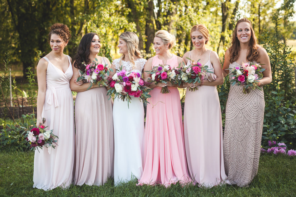 Wedding party unique color ideas