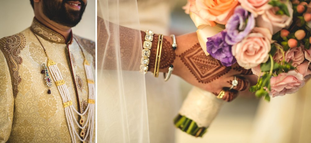 Washington DC colorful Indian wedding with a feminist bride. Getting ready details.