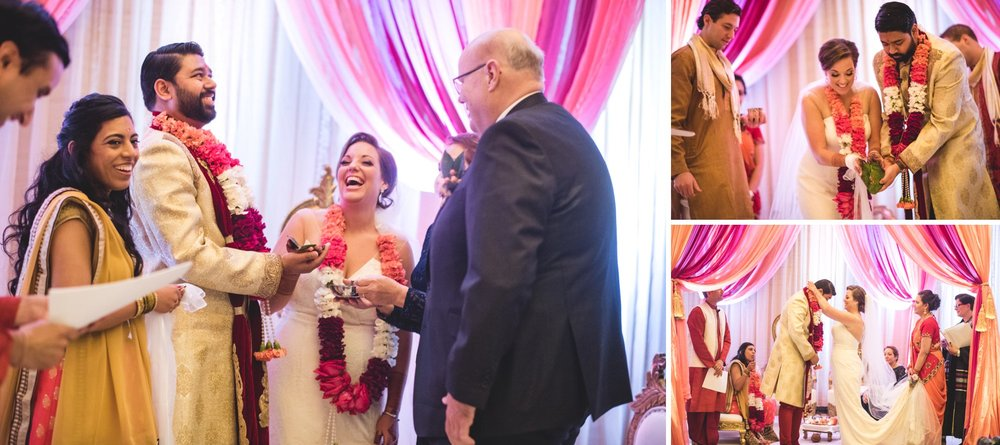 Washington DC colorful Indian wedding with a feminist bride. Ceremony.