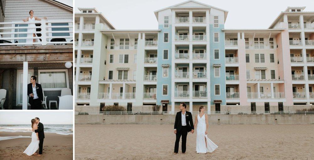 Low key backyard beach wedding in Sandbridge, VA beach portraits