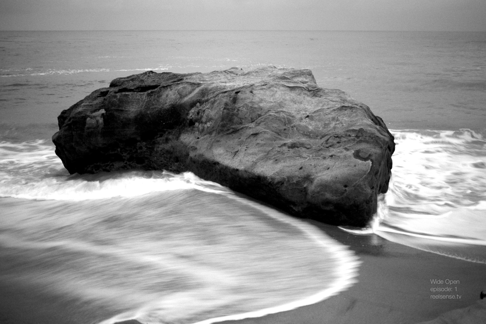 Laguna Beach - The Rock in black and white