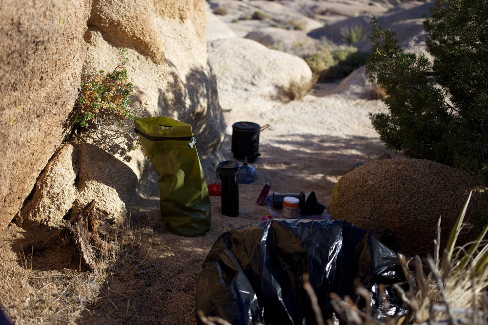 "Joshua Tree - Camp ""kitchen"" setup"