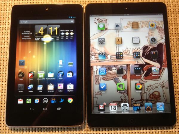 Nexus 7 vs iPad mini