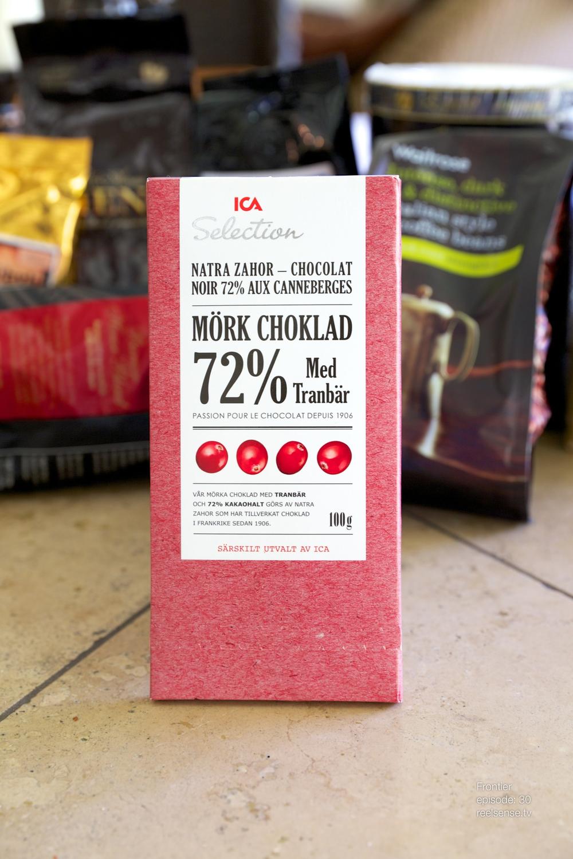 ICA Selection - 72% Mörk Choklad med Tranbär - Sweden