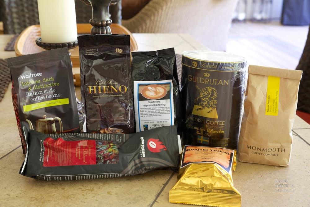 Assorted Coffee - Waitrose, Hieno, Skafferiets, Guldrutan, Monmouth, Baresso, Konjaki Trühvli