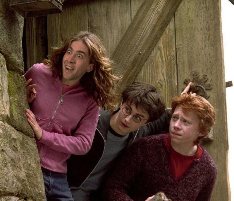 Nick Cage as Hermione Granger in Harry Potter