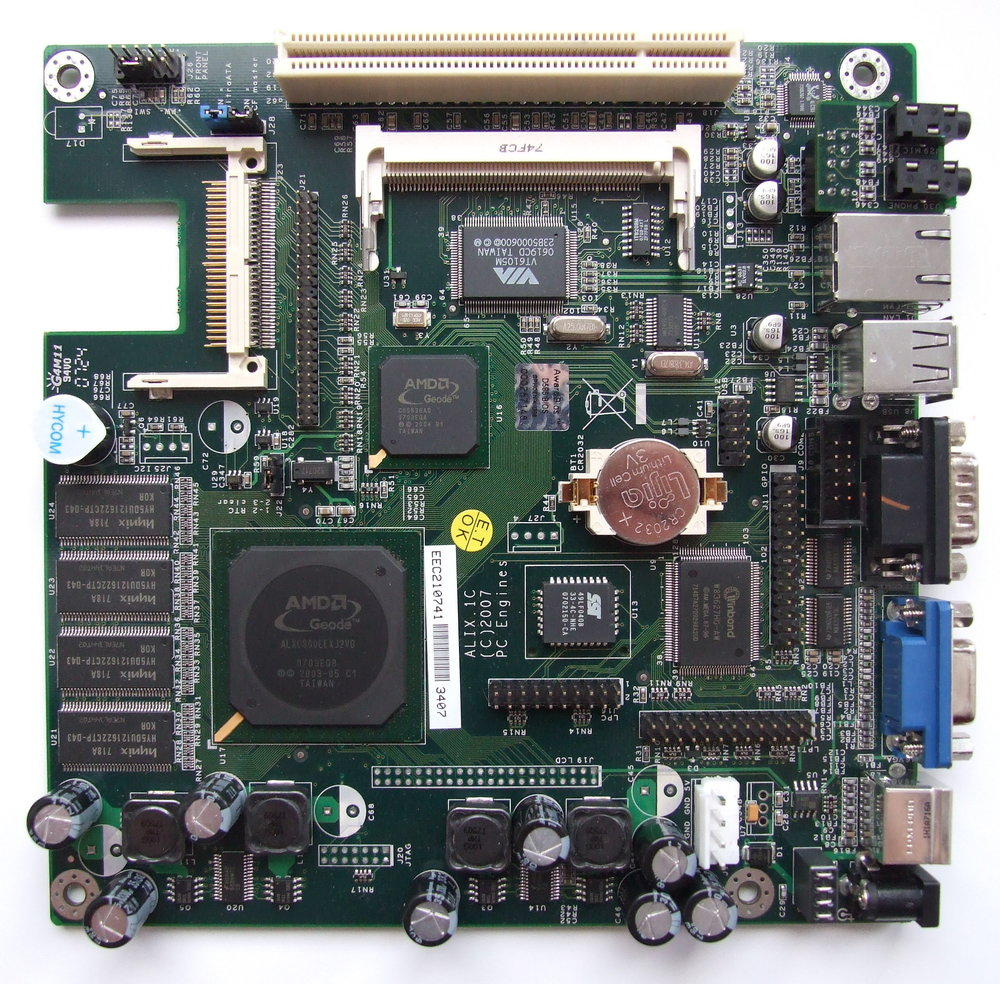 Alix.1C board with AMD Geode LX 800 - PC Engines