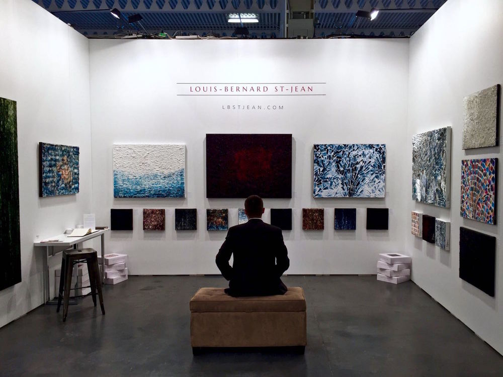 Louis-Bernard St-Jean in his booth at the Artist Project 2016 Contemporary Art Fair