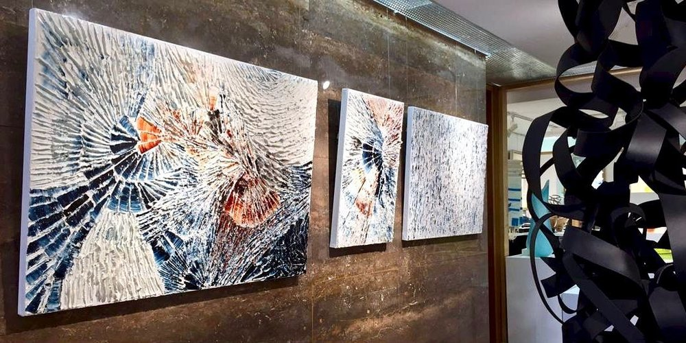 Artworks  Fire and Ice, The Islands  and  Winter is coming  on display at Petroff Gallery