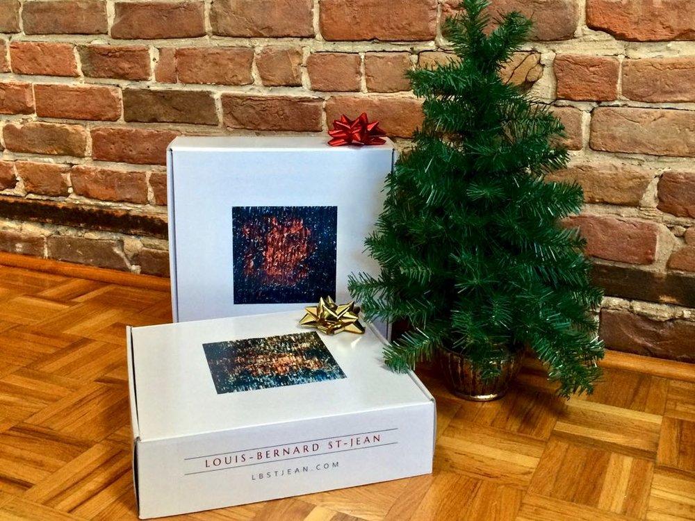 Tablaux-et-boîtes-cadeaux-avec-Sapin-Noel