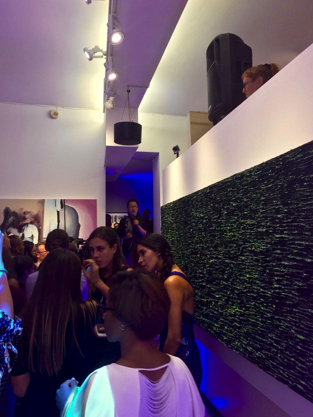 """Summer   — 2016, huile de noix de Grenoble sur toile, 12"""" x 12"""""""