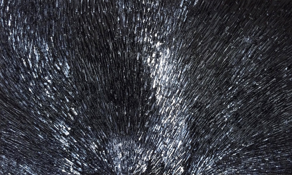 La Bete Noire - heavy textured sculptural oil painting by artist Louis-Bernard St-Jean