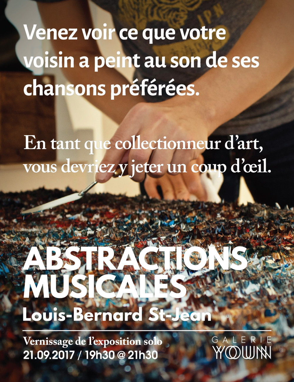 Affiche de l'exposition  Abstractions musicales