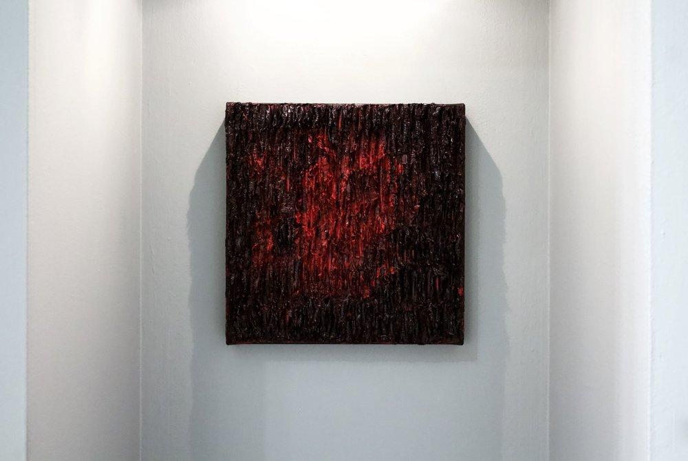 La peinture  Blossom  fera partie de l'exposition collective  Flora  à la Galerie Youn.