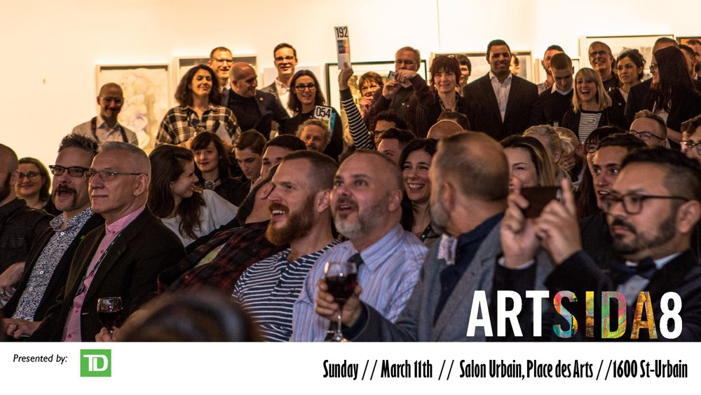 Artsida 8 // Main Auction - Sunday March 11th, 2018 // Place des Arts (Salon Urbain)
