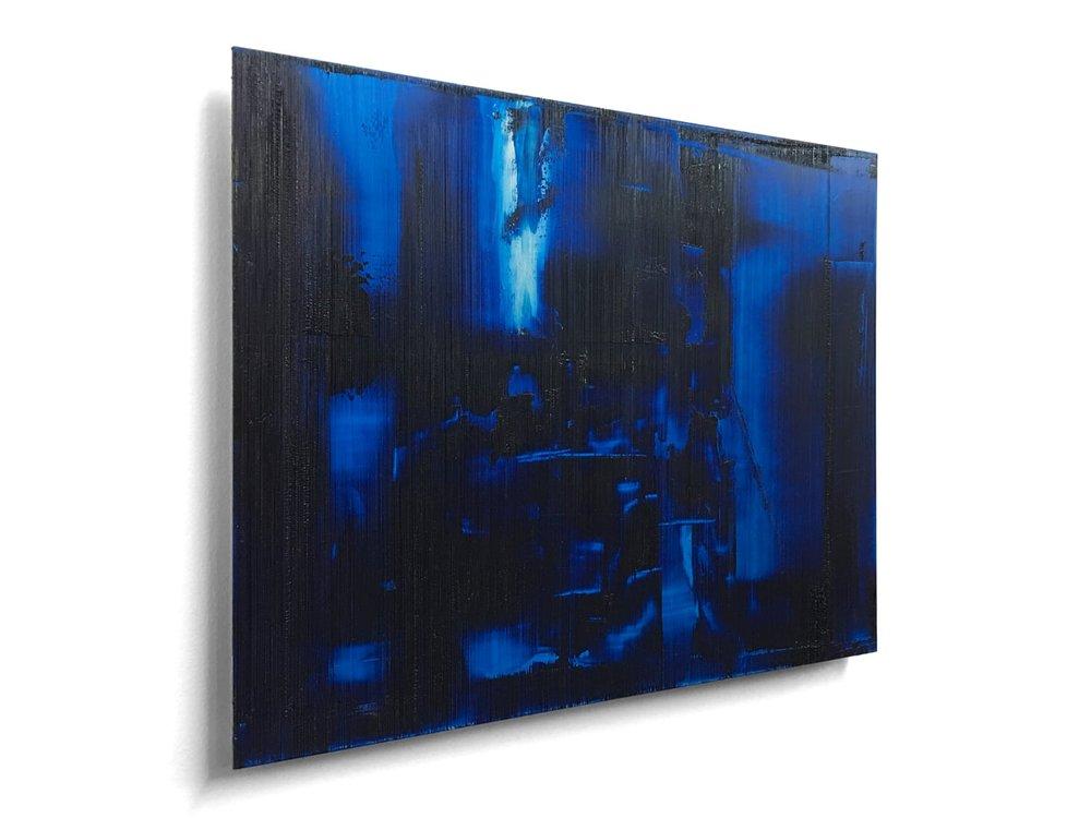 """Vue de biais du tableau intitulé """"Electric Dreams"""""""