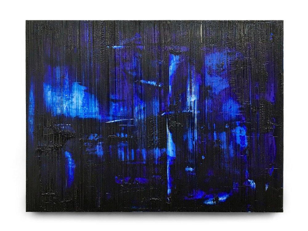 Œuvres d'art sculpturales - Découvrez mes nouvelles peintures sur panneau d'aluminium!Reprenant la même texture linéaire que mes œuvres sur papier, ces tableaux possèdent une luminosité et une iridescence hors du commun.