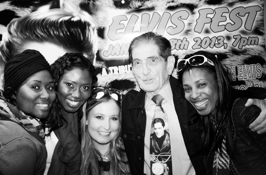 A picture of Dick Biondi with some fans!